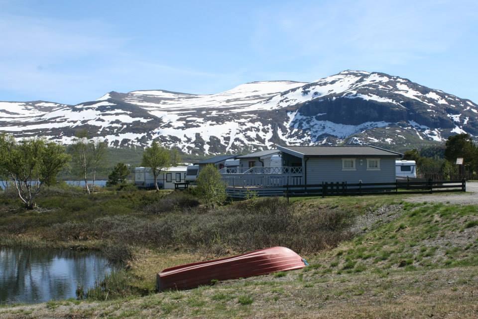 Bilde av hytter og campingvogner ved jotunheimen caravan camp